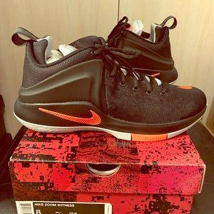 "Nike LeBron Zoom Witness ""Black Crimson"" Men's 8"